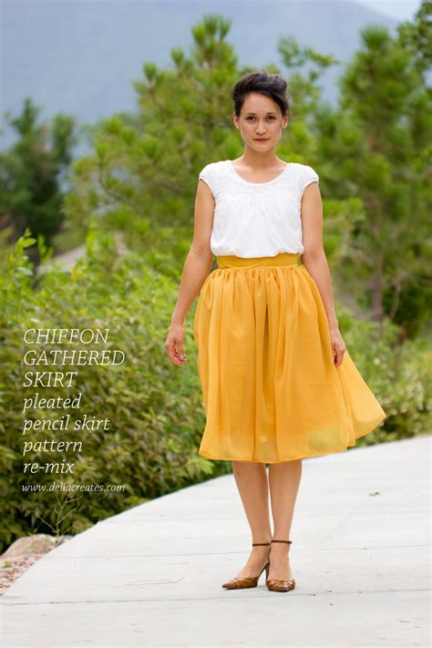 pattern making gathered skirt chiffon gathered skirt pattern re mix tutorial