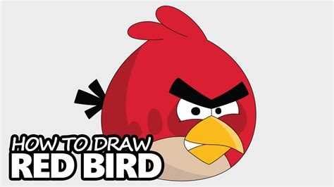 how to draw red bird from angry birds easy step by step