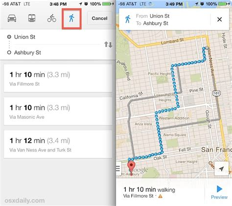 get directions with maps get walking directions in maps for iphone