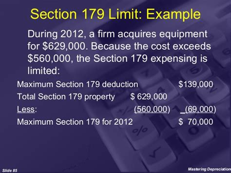 section 179 business income limitation mastering depreciation