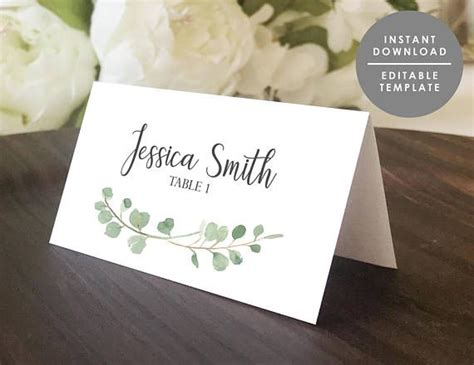 guest place card template best 25 place card template ideas on free