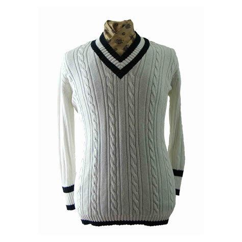 Sweater Black Blue white and black v neck cable knit sweater blue 17