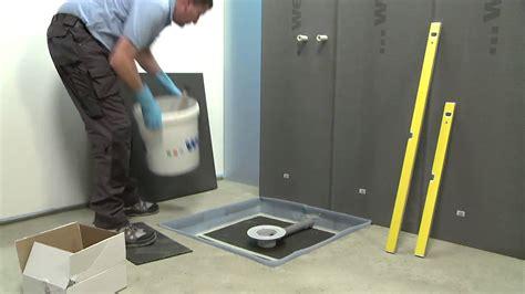 montaggio piatto doccia filo pavimento wedi it montaggio della doccia a filo pavimento