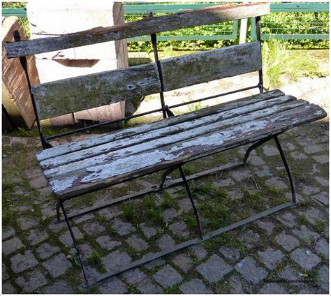 glasschiebetã r kaufen alte holzbank bank mit metallgestell klappbank gartenbank