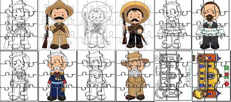 imagenes para imprimir revolucion mexicana estupendos rompecabezas de personajes de la revoluci 243 n