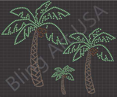rhinestone palm tree templates patterns coconut