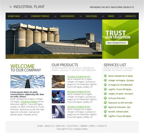 industrial template designs article free xhtml css templates for different