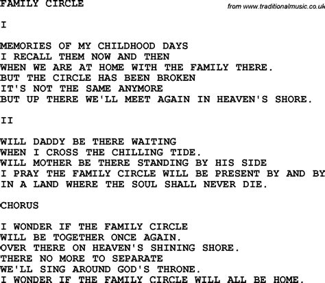 printable country lyrics country southern and bluegrass gospel song family circle