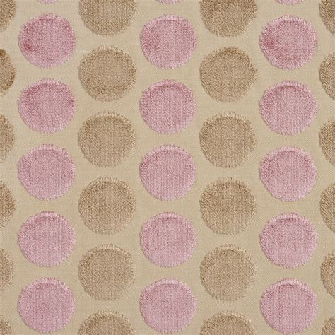 upholstery fabric pink b0780h baby pink and taupe polka dots cut velvet