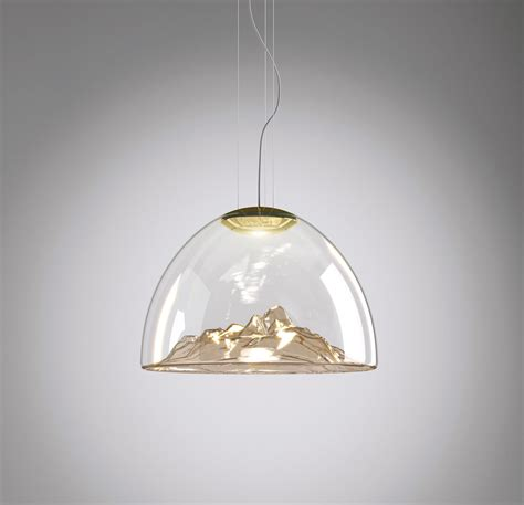 Lustre 3 Les 7017 by Lustre Mountain View Cristal Ambr 233 Or 216 55cm Axo