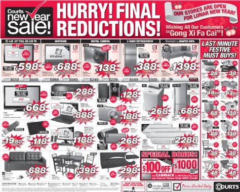 takashimaya post new year sale courts post new year sale great deals singapore
