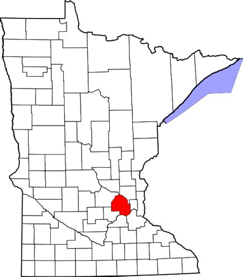 Hennepin County Search File Map Of Minnesota Highlighting Hennepin County Svg Facts For Kidzsearch