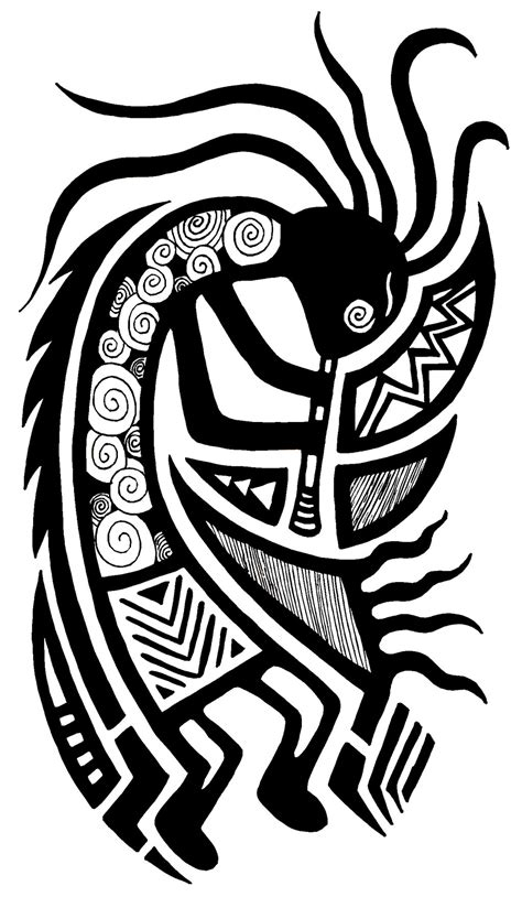 tribal kokopelli tattoo designs kokopelli by louisecbell on deviantart