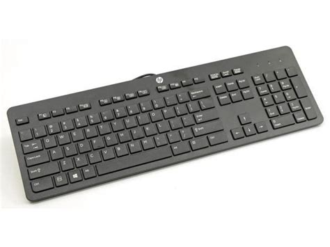Keyboard Hp K1000 new hp genuine usb wired black keyboard ku1469 sk2120 803181 001 newegg