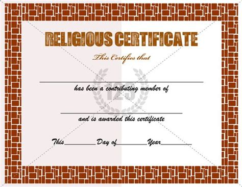 religious certificate templates for your church activities