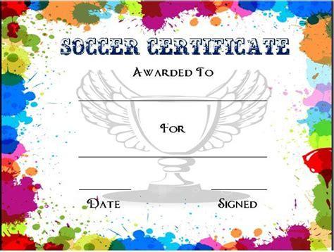 Soccer Certificate Template Free 30 Soccer Award Certificate