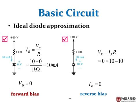 shockley ideal diode approximation 28 images diode circuit analysis ppt recovery time of