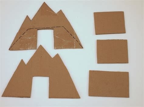 How To Make A Paper Mountain Out Of Construction Paper - make a cardboard bridge for trains and cars pink stripey