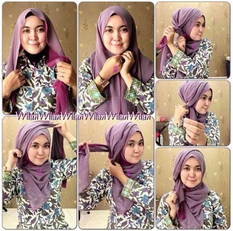 tutorial jilbab segi empat terbaru 2015 cara memakai jilbab segi empat kreasi