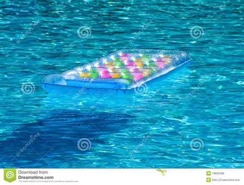 Mattress In Pool by Mattress In Pool Royalty Free Stock Image