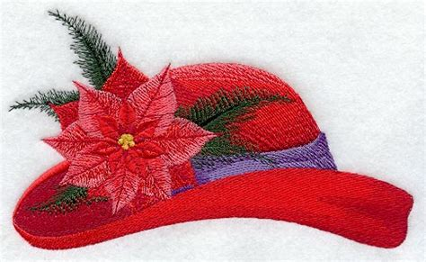 design own xmas hat machine embroidery designs at embroidery library embroidery library