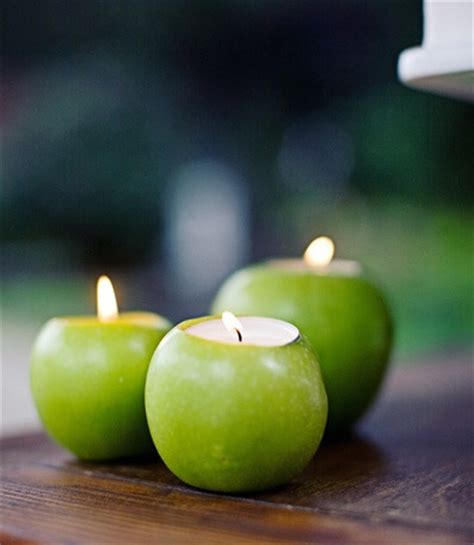 Apple Candle unique and simple centerpieces apple candle holders