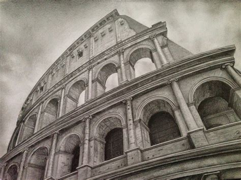 architecture pencil sketches dreams of an architect colosseum pencil drawing