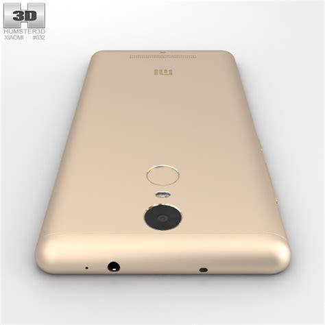 3d Xiaomi Redmi 3 xiaomi redmi note 3 gold 3d model humster3d