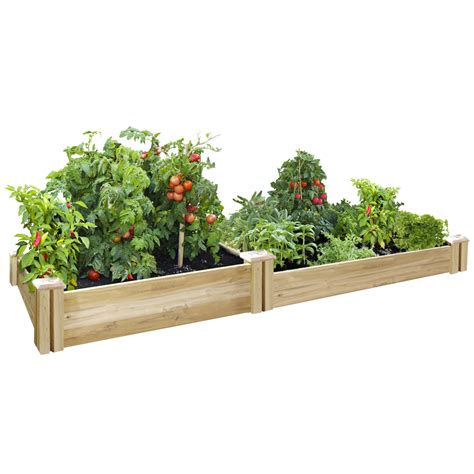 raised bed kit greenes fence companycedar raised garden kit greenes fence