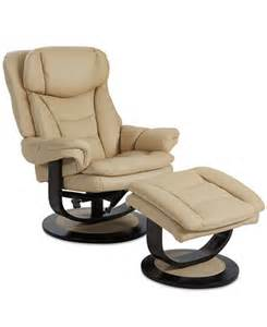 Recliner Chair With Ottoman Ren Leather Recliner With Ottoman Furniture Macy S