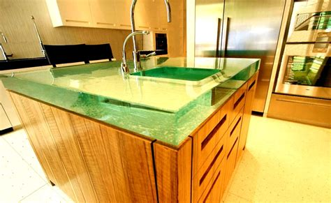 cool countertop ideas large glass countertops plus they can backlight the