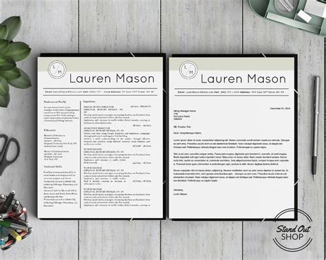 lauren mason resume template stand out shop 10 best fashion forward resume template images on