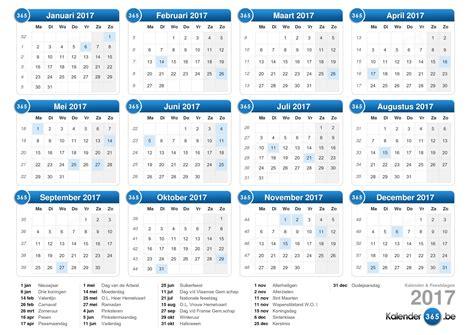 Kalender 2018 Belgie Kalender 2017