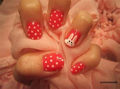 tutorial nail art pascoa easter bunny nail art tutorial collaboration with
