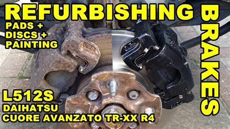 Disc Pad Front Daihatsu L210l500l512pn6295db1343 how to replace front brake discs pads daihatsu cuore