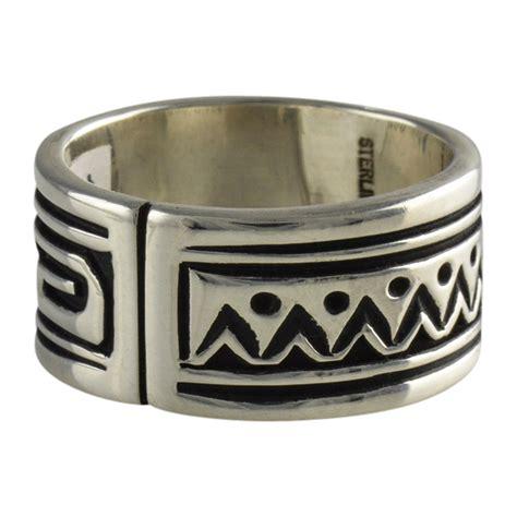 steven j begay sterling silver overlay mens rings navajo
