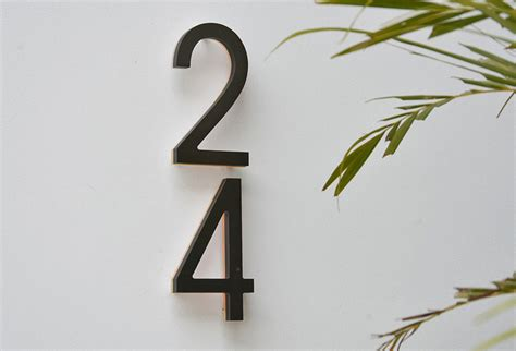 house numbers modern luxello modern bronze house numbers illuminated surrounding com