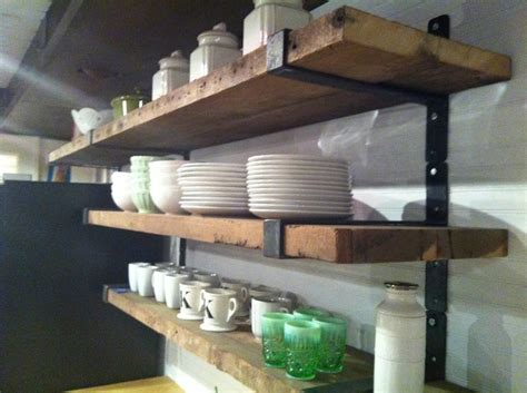 vintage wood and metal string shelving system for sale at wood and metal rustic shelving google search kitchen