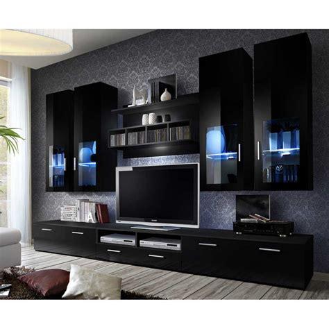 Meuble Tv Mural Noir by Meuble Tv Mural Design Quot Lyra Quot 300cm Noir