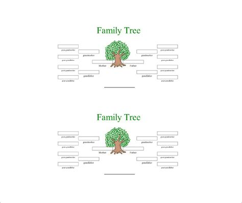 4 generation family tree template free 4 generation family tree template 12 free sle