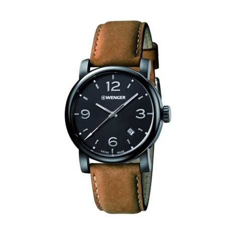 Jam Swiss Army Leather Brown wenger mens swiss army brown leather black