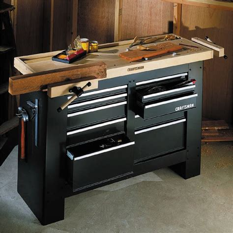 sears bench craftsman 10 drawer workbench base steel tools garage