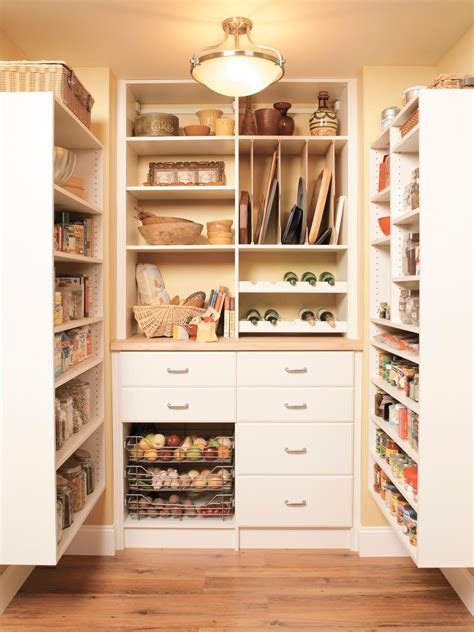 Kitchen Larder Storage Pantry Organization And Storage Ideas Hgtv