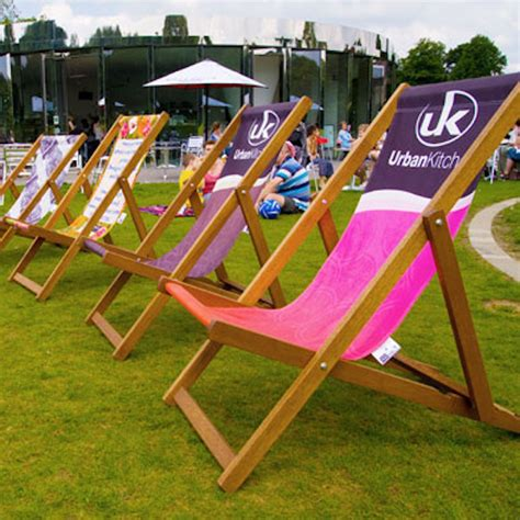 custom printed lawn chairs custom printed deck chair branded event furniture
