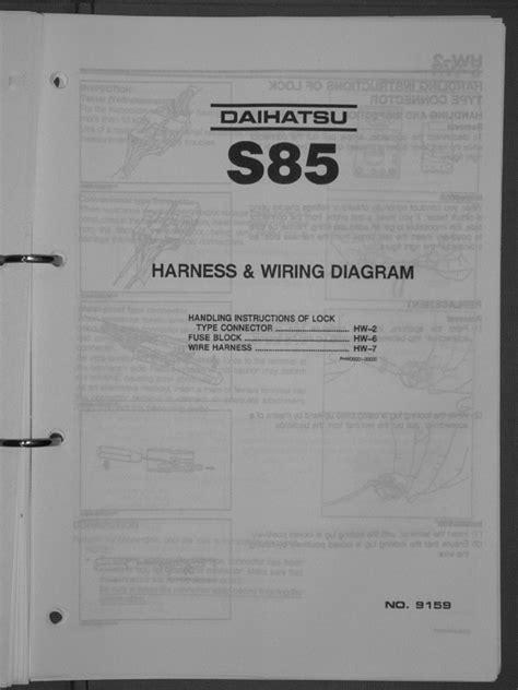 Wiring Diagram Daihatsu Taft - Complete Wiring Schemas