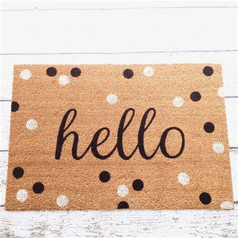 Hello Welcome Mat by 1000 Ideas About Doormats On Floors Door
