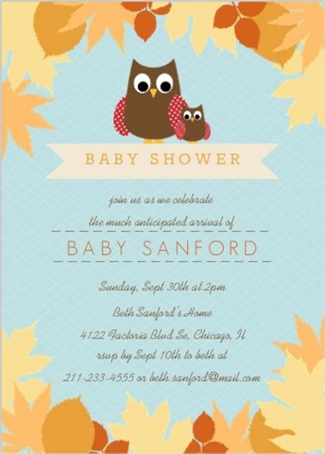 Fall Themed Baby Shower Invitation Wording by Fall Baby Shower Ideas Invitations Invite Wording