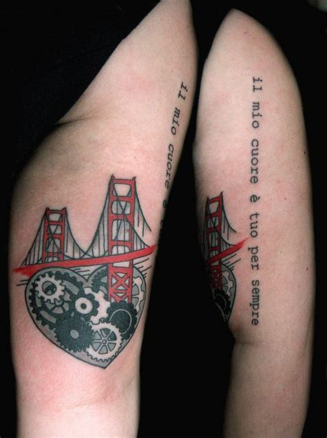golden gate bridge tattoo golden gate bridge with and gears the ink