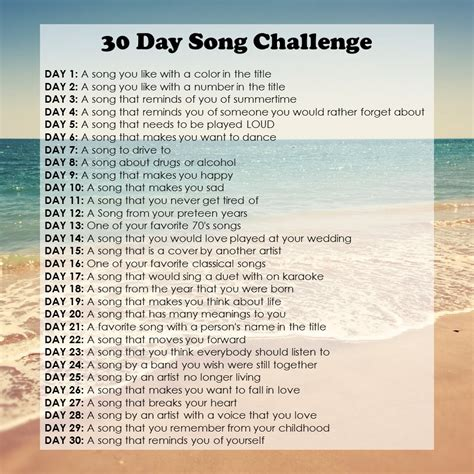 day song 30 day song challenge day one from to books