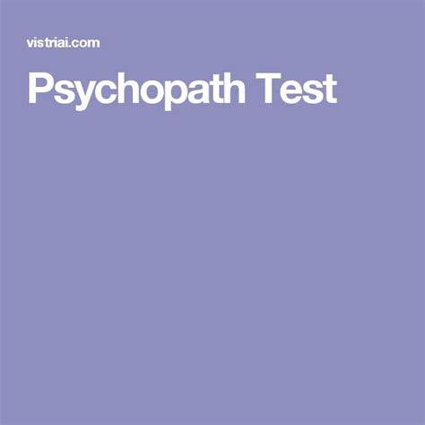 psychopath test 1000 images about the triad on emotional